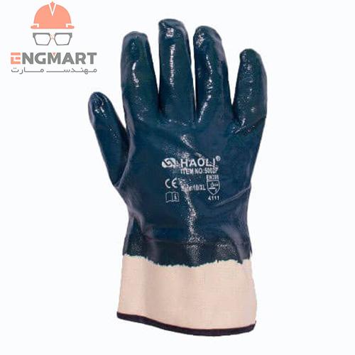 دستکش ساقدار نیتریلی HAOLI مدل 5002F