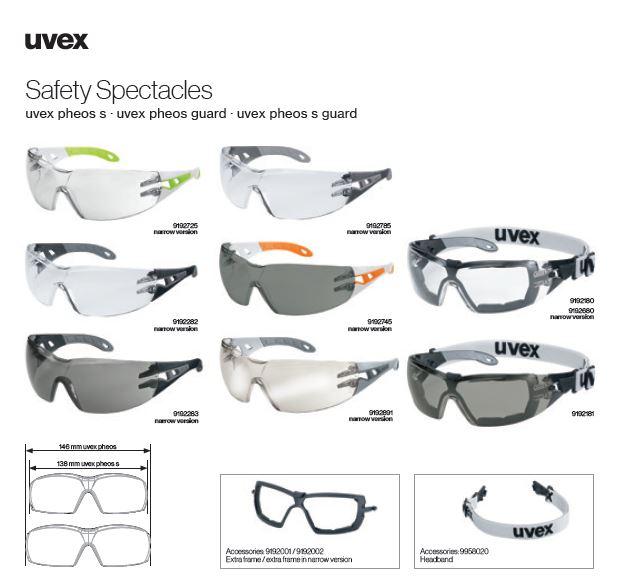 عینک ایمنی پزشکی یووکس مدل uvex pheos سری 9192225