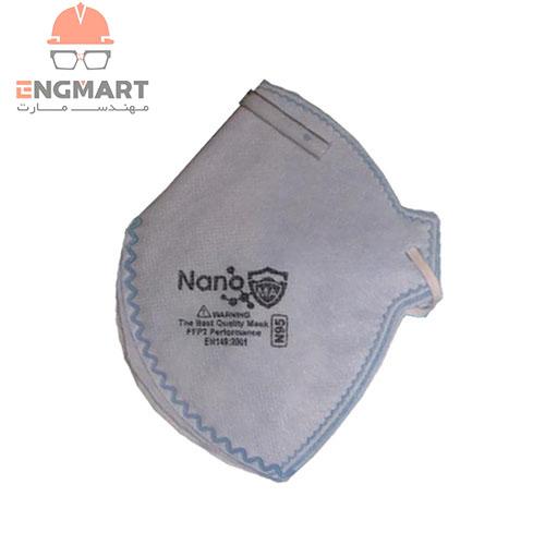 ماسک بدون سوپاپ نانو N95 با فیلتراسیون FFP2 بسته 25 عددی
