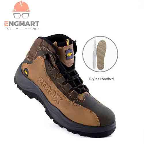 کفش ایمنی عایق برق New 3max با رویه نبوک هورس