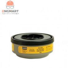 کارتریج نوار زرد ماسک شیمیایی گازهای اسیدی و آلی North سری N75003