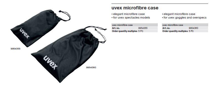 کاور محافظ عینک یووکس سری 9954355 محصول شرکت یووکس uvex آلمان می باشد .