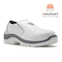 کفش ایمنی پرسنلی ارک مدل اپنکا کشی سفید TPU
