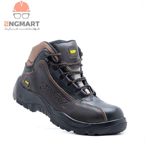 کفش ایمنی new 3max مدل قهوه ای مشکی