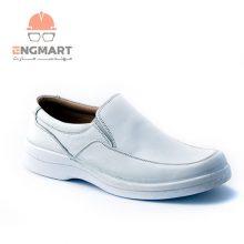 کفش پرسنلی سفید پای آرا مدل آرین