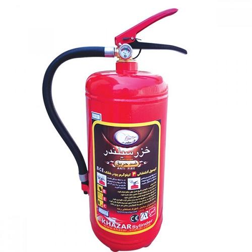 کپسول آتش نشانی پودر و گاز 4 کیلویی خزر سیلندر