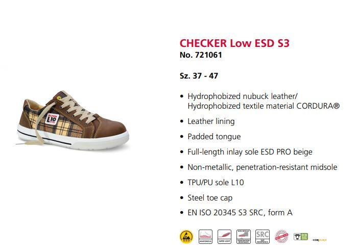 کفشایمنی زنانه Elten مدل Checker محصول شرکت التن آلمان می باشد .