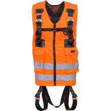 هارنس ایمنی تمام بدن با جلیقه کار جیب دار نارنجی سری FA1030300
