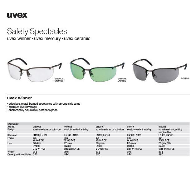 عینک یووکس یووکس مدل Winner MT کد 9159118 محصول شرکت یووکس uvex آلمان می باشد .
