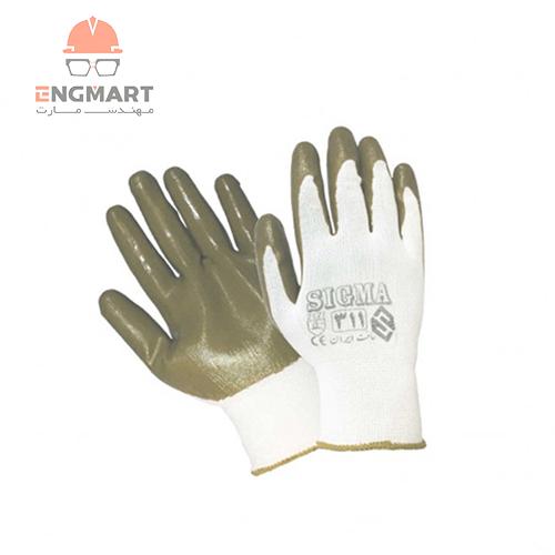 دستکش ایمنی ضد برش سیگما سری 311 ( بسته 12 عددی )